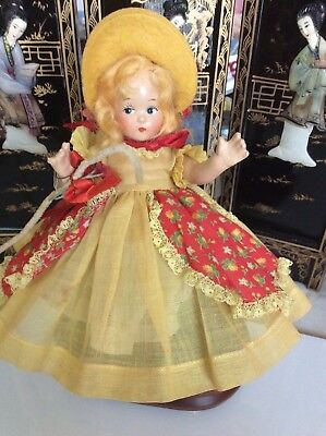 """Vintage 1937 Madame Alexander 7""""Little Bo Peep all composition Tiny Betty in BOX"""