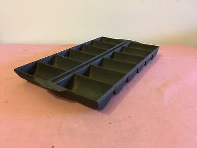 Antique Cast Iron 12 Slot Corn Bread French Roll Pan - Unmarked