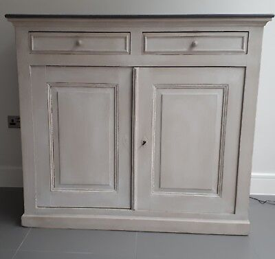 French style painted wood Sideboard/cabinet with 2 drawers 131.5 x 116 x 53cm