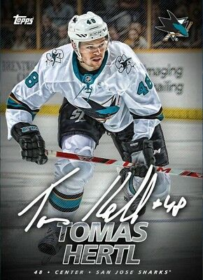 SIGNATURE SERIES 2018 NON-VARIANT TOMAS HERTL Topps NHL Skate Digital Card