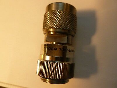 Omni Spectra 7081 APC-7 to Type-N Male RF Coaxial Adapter/Connector