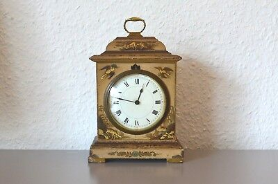 Antique ,,BUREN'' Chinoiserie Mantle Clock. Swiss. Hand painting. Working order.