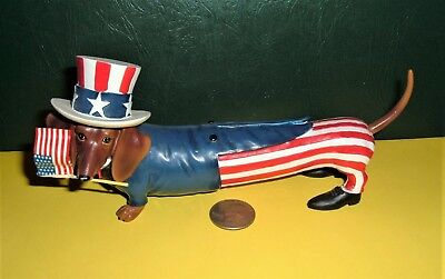 Collectible Hot Diggity Dachshund Long May It Wave Figure Without Original Box