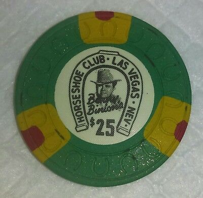 Binions Horseshoe $25 Obsolete horseshoe mold casino chip