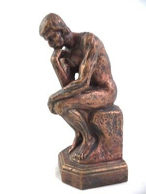 "The Thinker Statue 9""H Figurine by Auguste Rodin Sculpture Decorative"