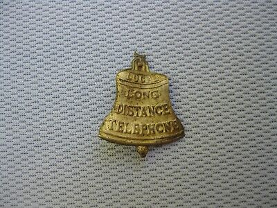 Gold Plated Local Long Distance Bell Telephone Stick Pin