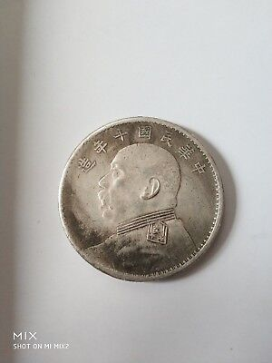 Rare 39 mm/Ten years of the Republic of China made of silver COINS