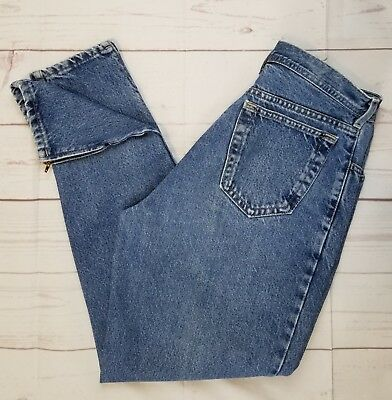 """VTG 90s Parasuco Jeans Ankle Zippers Classic High Rise Tapered 30"""" Waist 29"""" In"""