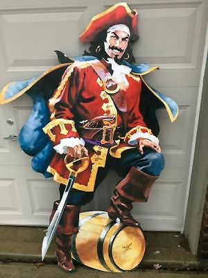 Captain Morgan Rum Pirate Bar Decor Sign 5FT Tall Man Cave