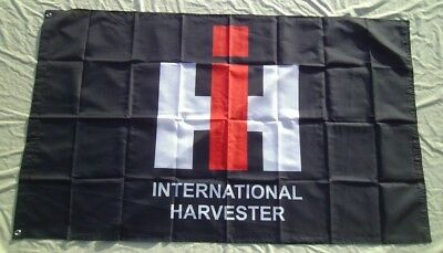 International Harvester Tractor Flag 3' X 5' Polyester Banner Black NEW # 322
