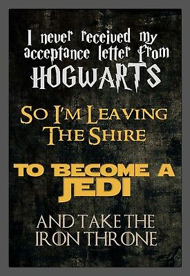 NEW Custom Harry Potter/Game of Thrones/Star Wars/LOTR Metal Sign