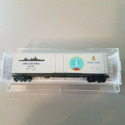 N Scale Micro-trains 038 00 406 Uss Gilbert Islands Navy Series #6 Boxcar New In Box