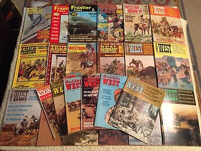 LOT OF 24 VINTAGE LATE 1950's - 1970's WESTERN PULP MAGAZINES Cowboy