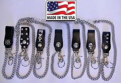 Wallet Chain Replacement Biker Trucker Key Fob Ring Trigger Hook US Made