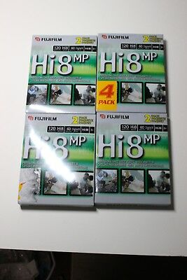 Lot of 8 Fuji Film 8mm P6 120 minutes camcorder video cassette tapes NEW SEALED