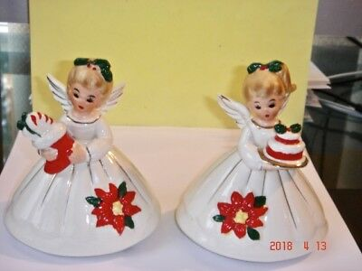PAIR Vintage JOSEF Originals Figurines JAPAN Christmas Angels