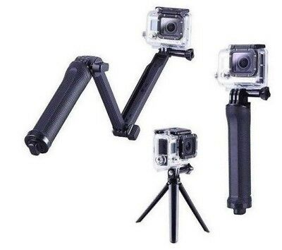 3-Way Grip Arm Tripod Mount Selfie Stick for GoPro Hero 2/3/4/5/6/Session