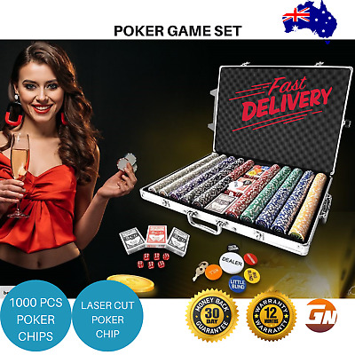 1000 Chip Professional Poker Game Set High Quality in Aluminium Case