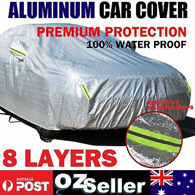 Custom Fit Waterproof Aluminum Car Cover Outdoor Rain Dust ScratchProof All Size