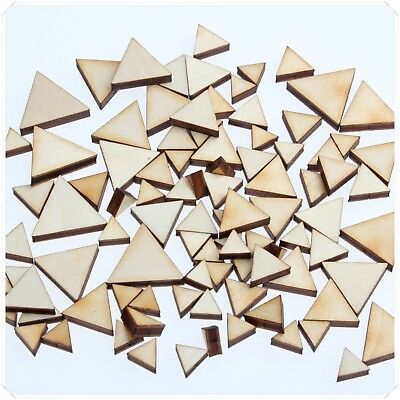 Mixed Mini Triangle Small Wooden Cute Decor Art Card Making Scrapbooking Diy