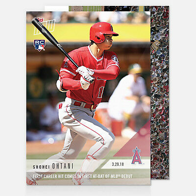 2018 SHOHEI OHTANI 1st CAREER HIT IN FIRST AT BAT ANGELS DEBUT TOPPS NOW CARD #5