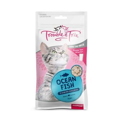 Trouble & Trix Cat Treats Ocean Fish 70g in Small Bite Sized pieces