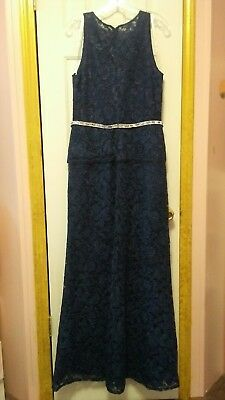 Dfi Los Angeles Evening Gown Size 14 Navy Blue Brand New Never