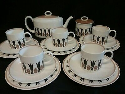Vintage Susie Cooper Bone China Tea Set and Teapot