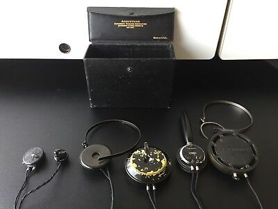 1900s Acousticon Dictograph Antique Hearing Aids, Lot of Items