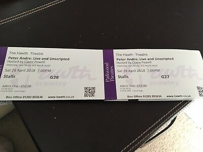 peter andre Tickets X2