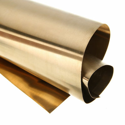 1pc Brass Metal Thin Sheet Foil Plate Shim 0.2mm Thick 200 x 300mm Metalworking