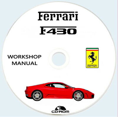 Workshop Manual FERRARI F430 Coupe',manuale officina Ferrari F430.