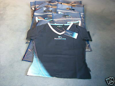BNWT - 7 X WILLIAMS F1 LADIES TEAM T-SHIRTS - XS to  L