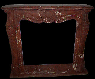 Camino In Marmo Rosso No Pietra Caminetto Pompadour Marble Fireplace