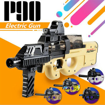 CS Game Nerf Style Toy Electronic Gun Beige Air P90 Sub-machine  Water Bullets