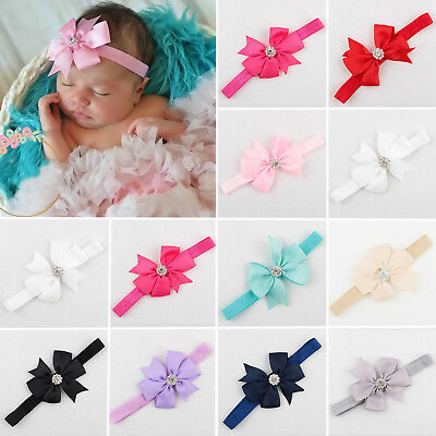 Cute Newborn Baby Girls Headband Infant Toddler Bow Hair Band Head Accessories