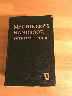 MACHINERY'S MACHINIST HANDBOOK, 12TH Edition, Metal Fabrication, NO RESERVE!