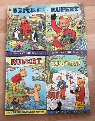 Rupert Annual Bundle 1974, 1975, 1977, 1978