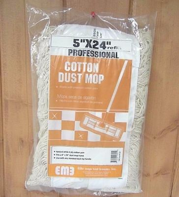 "Cotton Dust Mop Refill 5"" x 24"" ~ New"