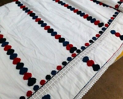 Croatian Traditional costume embroidered skirt antique linen handwoven textiles