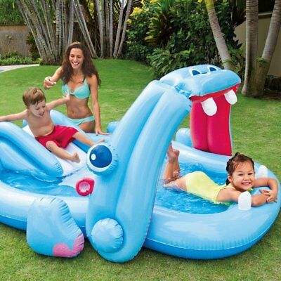 Intex Inflatable Hippo Play Centre Fun Splash Pool