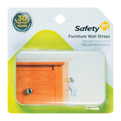Safety 1st Furniture Wall Straps 2,4,6 Count Safe Protector Secure Baby Child
