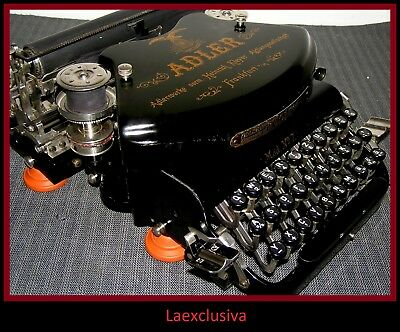 Fabulous antique ADLER 7 typewriter from 1926 ; ART DECO DESIGN, WORKING COND.