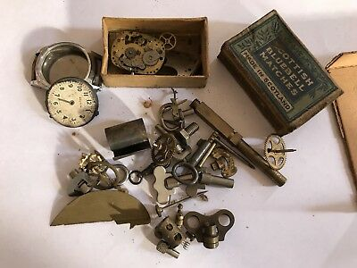 Vintage Clock And Watch Parts