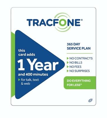 TracFone $99.99 Refill -- 400 Minutes / Year. Loaded directly