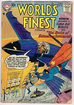 Rare Vintage World's Finest Comics # 93 -Dc Apr 1958 - Batman, Robin, Superman!!