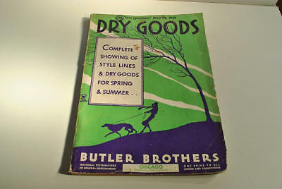 """1935 Antique 14"""" Large Butler Brothers Catalog Style Lines, Dry Goods For Spring"""