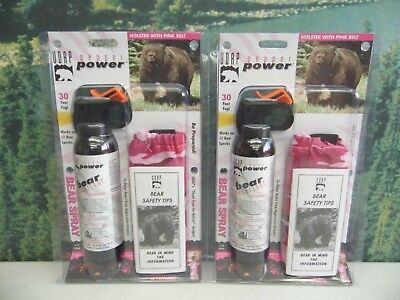 UDAP Pepper Power Bear Spray Repellent w/ Pink Camo Holster ~ #12PINK ~ 2-PACK