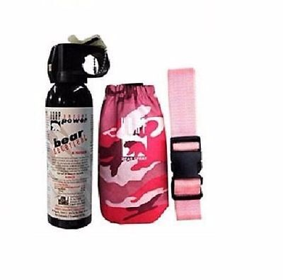 UDAP Pepper Power Bear Spray Repellent w/ Pink Camouflage Holster ~ #12PINK