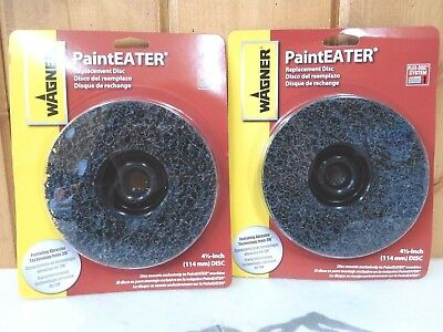 "Wagner Paint Eater 4.5"" Replacement Disc 2 Pack ~ New"